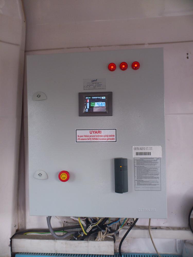 LPG istasyonu tank seviye izleme cihazı