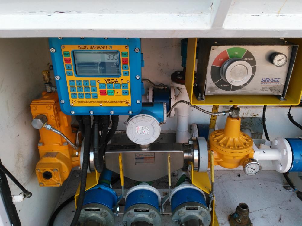 Tanker otomasyon sayaç bağlantısı
